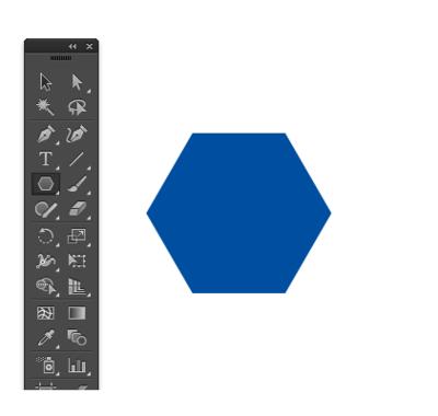 青色の六角形のオブジェクト