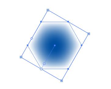 ぼかしのついた六角形