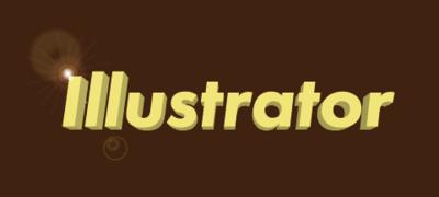 Illustratorの文字にフレア