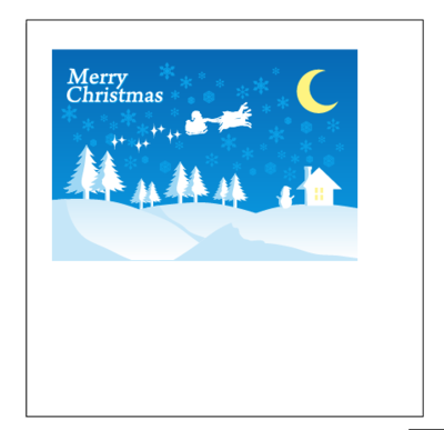 クリスマスカードとアートボード