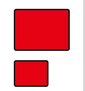 拡大で角丸の大きさが同じ