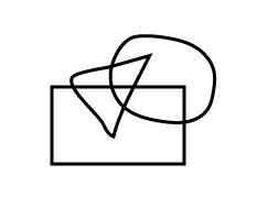 鉛筆ツールやペンツールで作成した複数のオブジェクト