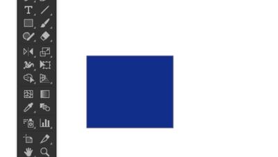 青色の長方形を作成