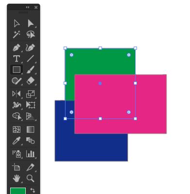 緑色の長方形を作成
