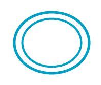 二重の楕円