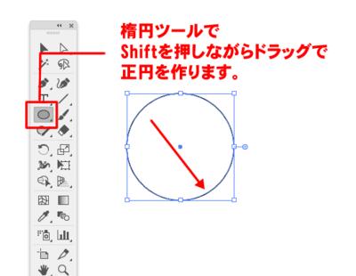 楕円形ツールで作成した正円