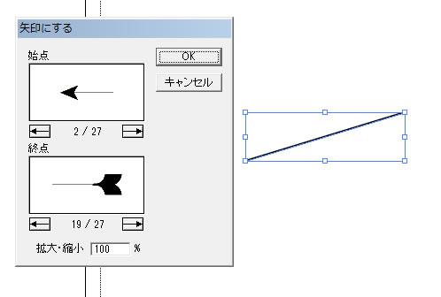 始点と終点の形状を決める