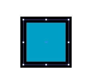 黒色の線の四角