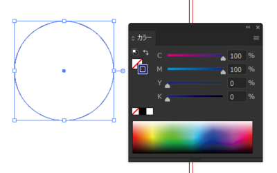 塗りなし線ありの正円