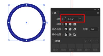 太い線のみの正円