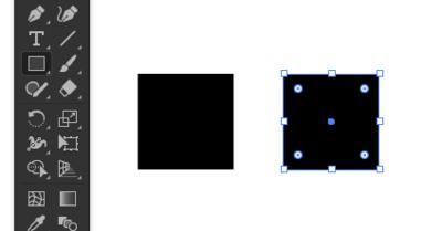正方形を2つ作成